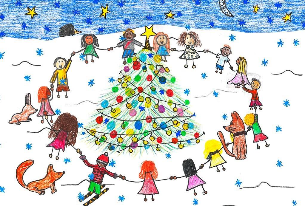 Weihnachtskarten Aldi Süd.Malwettbewerb Zwei Neue Sujets Für Unicef Weihnachtskarten Unicef Ch